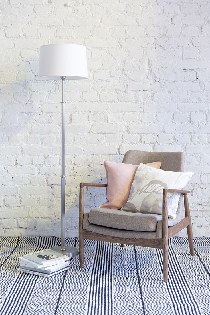 Pentik Indore Lampstand | Indore lampstand is made of silver-coloured brass. 140 cm in height, this lampstand goes well with a 38 cm Deco lampshade, for example.