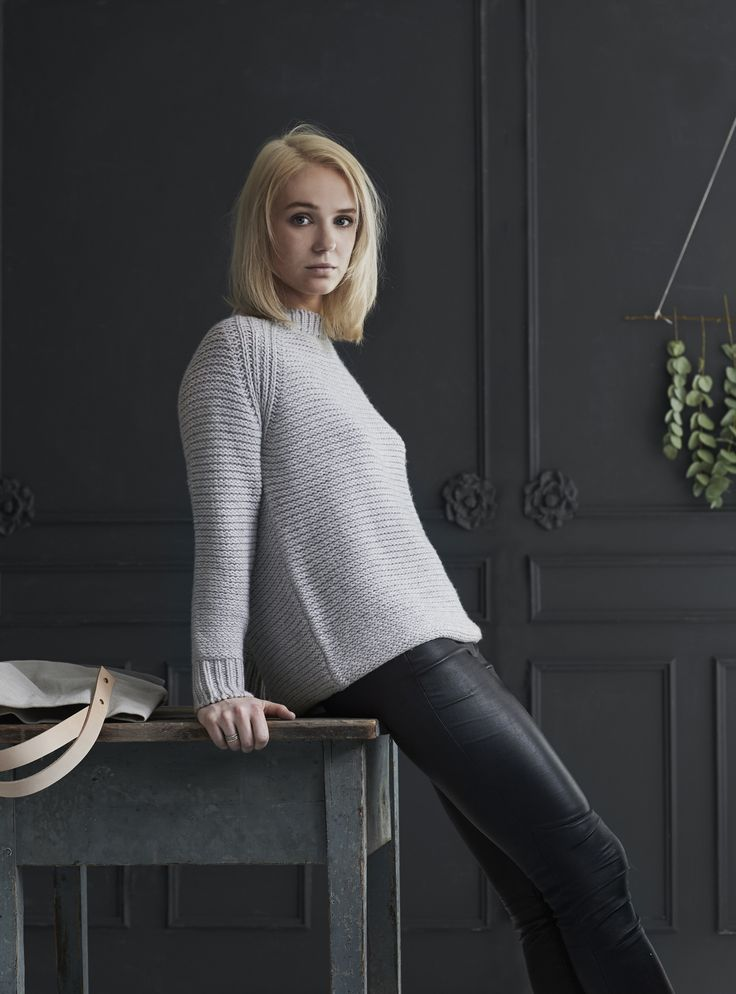 care by me Kamma chunky knit sweater cashmere/wool - knit - made in Nepal - danish design