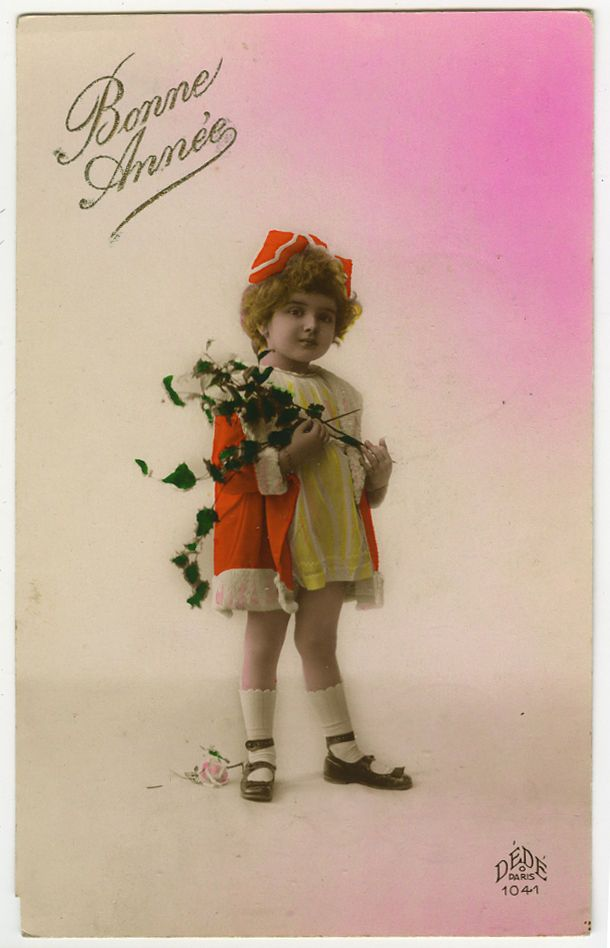 Французский деко 20-е годы 20 века дети ребенок очаровательная маленькая девочка фото открытка   eBay