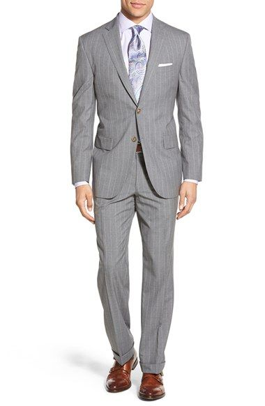 David Donahue Classic Fit Super 120s Wool Pinstripe Suit available at #Nordstrom