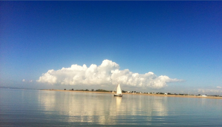 West Sussex, from East Head across Chichester harbour May 2013