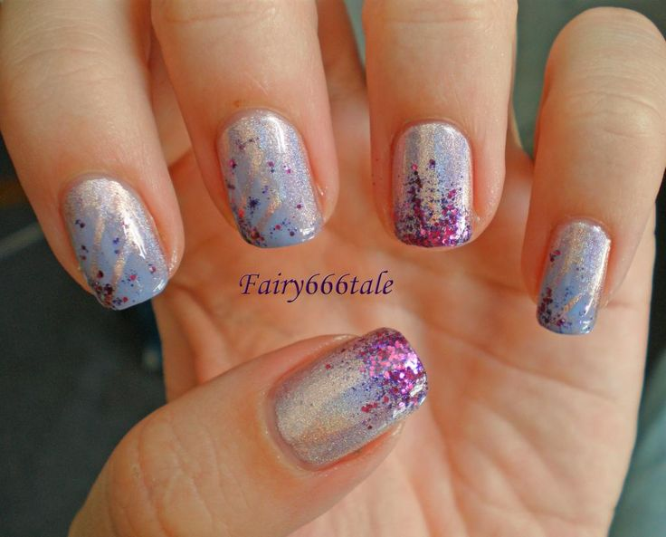 Nail art: Purple Party! | Fairytale nail art