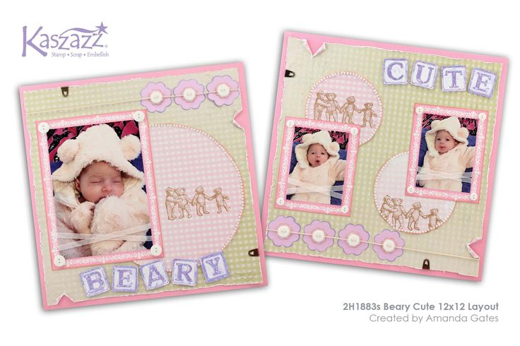 This project will show you how to create a beautiful layout suitable for your favourite baby photos. You will use the Ezy-Press, embossing and stamping techniques. This layout can easily be adapted for girls or boys.