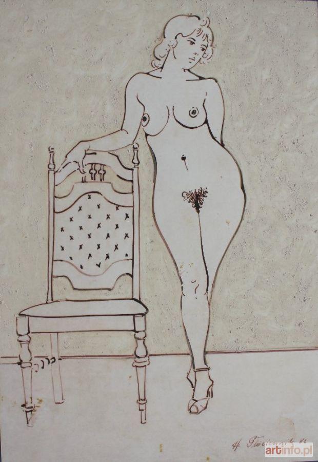 Henryk PŁÓCIENNIK ● Akt z krzesłem (1986) ●