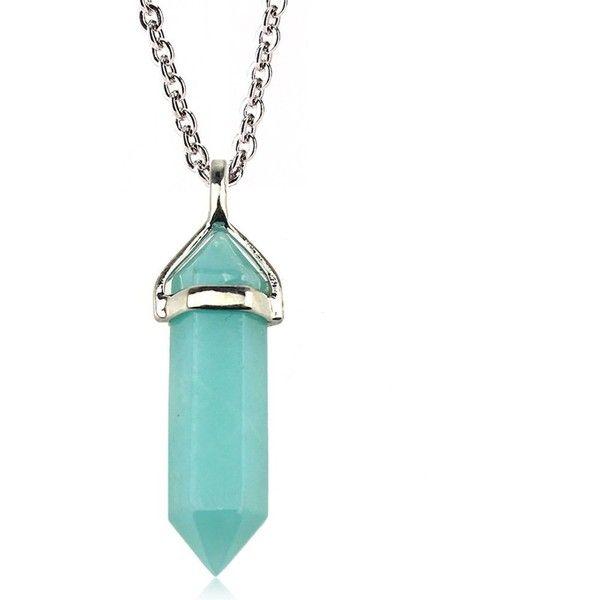 Hexagonal Gemstone Quartz Crystal Healing Point Pendant For Necklace Jewelry