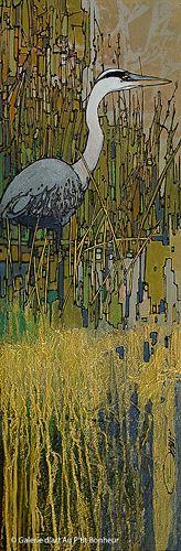 Jean-Pierre Guay, 'Quenouilles', 15'' x 45'' | Galerie d'art - Au P'tit Bonheur - Art Gallery