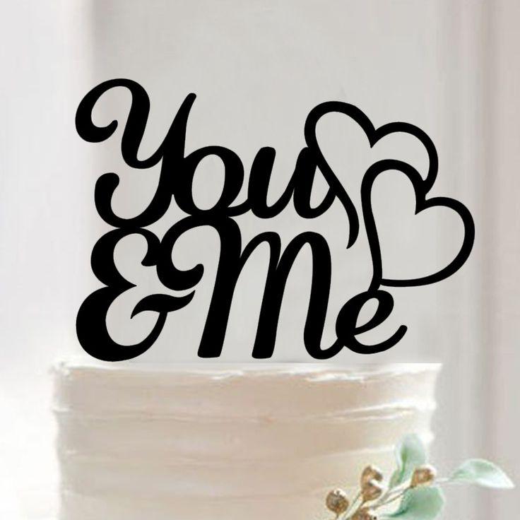Ты И Я Торт Топпер Акриловые Силуэт Свадебный Торт Топпер Свадебный Торт Топпер Торт Декора