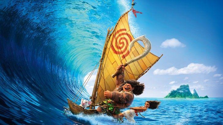 Moana disney sailing ocean waves wallpaper disney moana