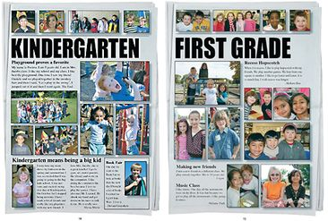 grade pages- photos above headlines  A little too much wording for my taste but I like the general idea