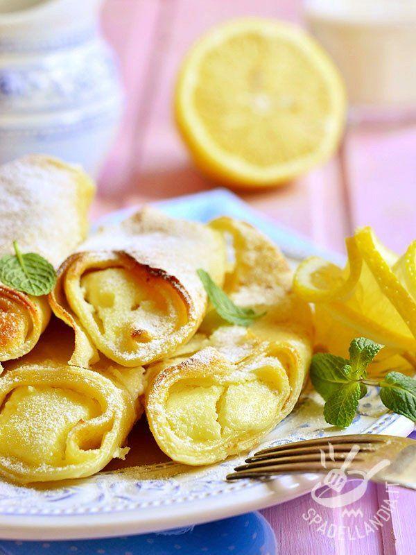 Crepes alla crema di limone: ottime frittelline francesi aromatizzate con una salsa delicatissima e raffinata che non può non piacere!