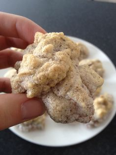 """Cinnamon """"Sugar"""" Egg Puffs  Entire batch= 128 calories and 28 grams of protein!"""