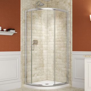 DreamLine Solo 31-3/8 x 31-3/8 Frameless Clear Sliding Shower Enclosure | Overstock™ Shopping - Big Discounts on DreamLine Shower Doors
