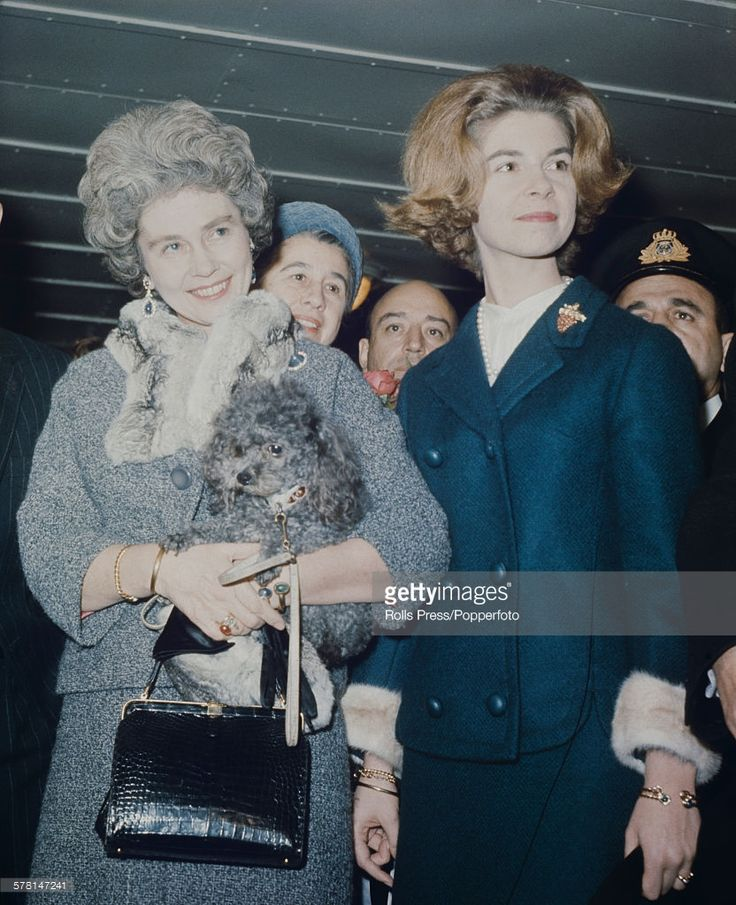 Frederica of Hanover, Queen consort of the Hellenes (1917-1981) pictured left with her daughter Princess Irene of Greece and Denmark at an event in 1964. (Photo by Rolls Press/Popperfoto/Getty Images)