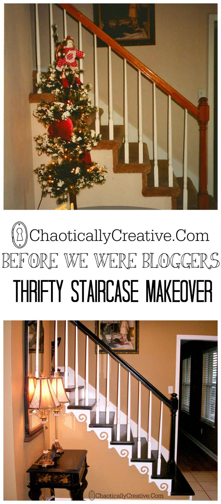 Plywood Stairs Makeover