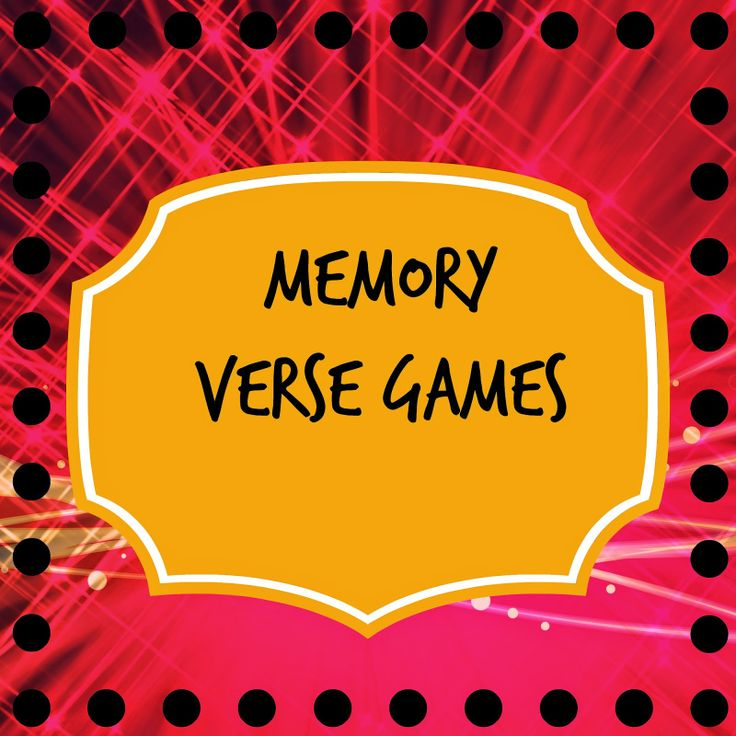 Memory Verse Activities – Mission Bible Class