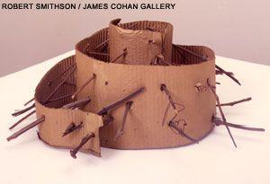 """PIERCED SPIRAL  1973  cardboard, spiral with sticks  10"""" x 20"""" dia  Collection: IVAM, Center Julia Gonzalez, Valencia"""