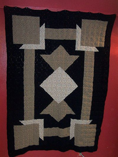Free Pattern Happy Yellow House.com - Art Deco Crochet Quilt - by C. L. Halvorson