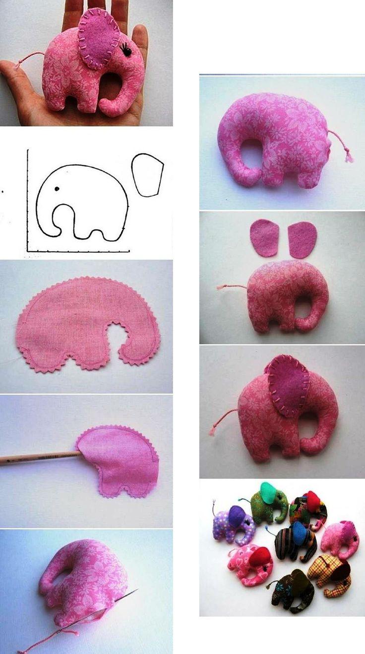 Figurita de elefante en tela