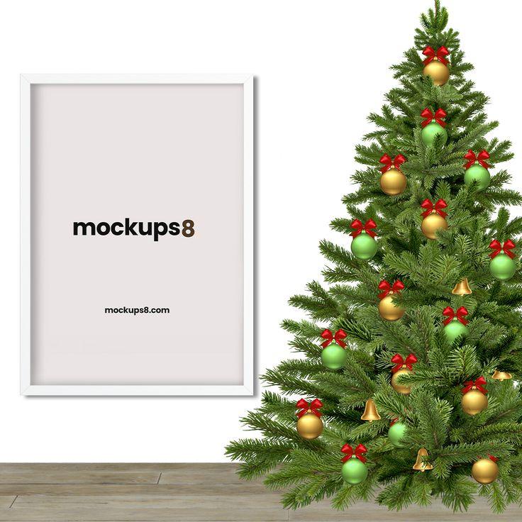 Free Christmas Poster Frame Mockup Christmas Frames Free Christmas Frames Christmas Poster