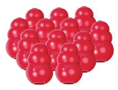 Kong CLASSIC MEDIUM Rubber Chew Toy For Dogs - World's Best Dog Toy (T2) 12 PACK