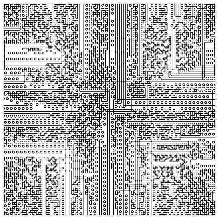 "'Signal & Noise 28-01-2017 # 1' © 2017 Titus Hora 150 x 150cm (54"" x 54"") digital print #abstract #procedural #parametric #generative"