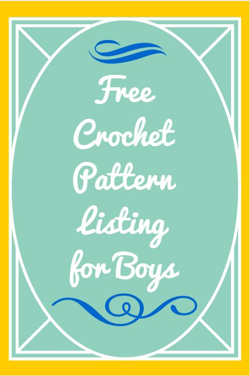 Free Crochet Patterns for Boys - Mom vs the Boys
