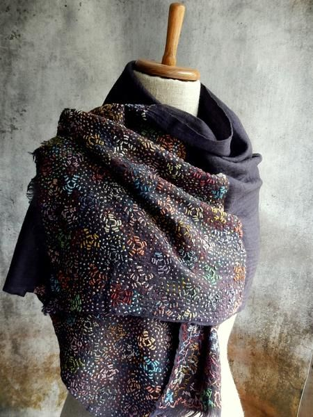 """""""Ronces"""" Embroidered Wrap"""