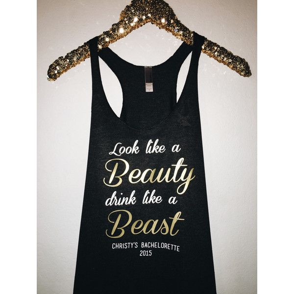 Customizable Disney Bachelorette Tank Top ($22) ❤ liked on Polyvore featuring tops, pink, weddings, loose fitting tank tops, loose fitting shirts, loose fit tank tops, pink shirt and loose tank