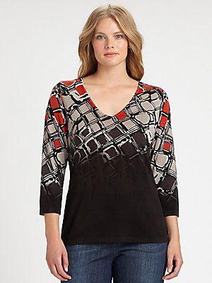 Marina Rinaldi, Salon Z Asia Silk/Cashmere Sweater