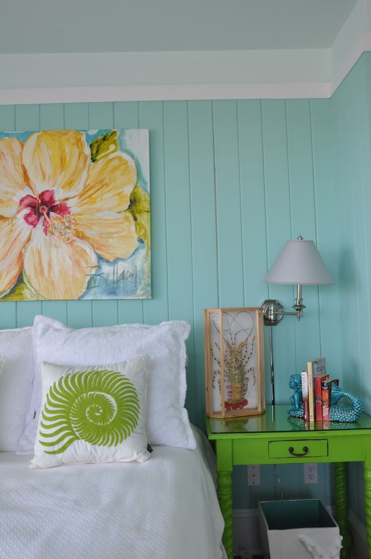 Beach cottage master bedroom - Jane Coslick Cottages