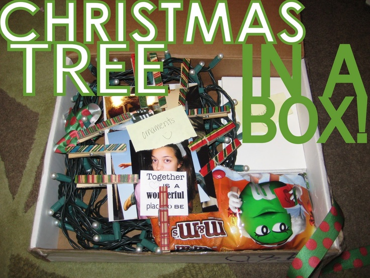Send a Christmas Tree in a Box to a loved one far away (business, military, mission) Complete with a free printable manual for assembling your tree on a wall!