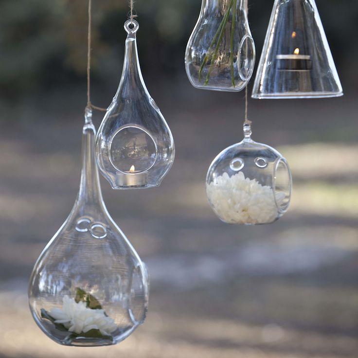 Porta velas de cristal gota de agua para eventos y - Portavelas cristal ...