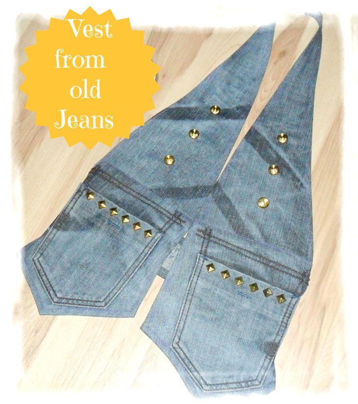 Kamizelka ze starych jeansów