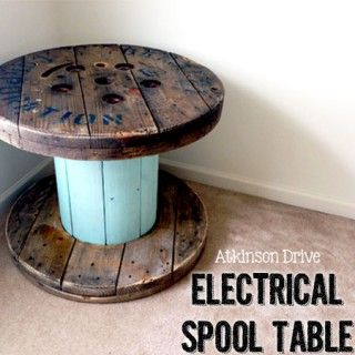 Turn that side-of-the-road electrical spool find into a fabulous accent table with a few simple tweaks!