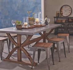 Metal Wrapped Braxton Dining Table StoolsDining ChairsWorld Market