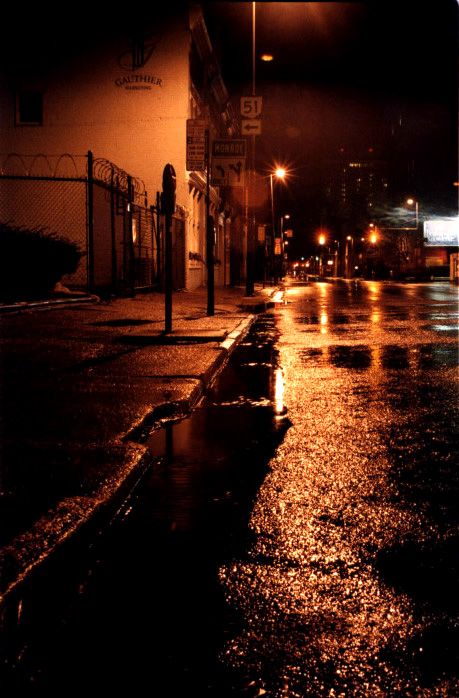 Wet city street | A Devil Inside - Research | Love rain ...