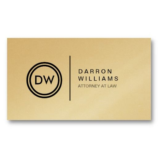 YOUR INITIALS LOGO on GOLD Customizable Personal Business Card Template