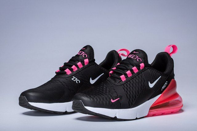 Women S Nike Air Max 270 Black Pink Purple White Girls Running
