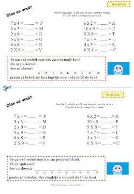 Ghicitori matematice - inmultirea. Matematica e mai usoara cu jocuri