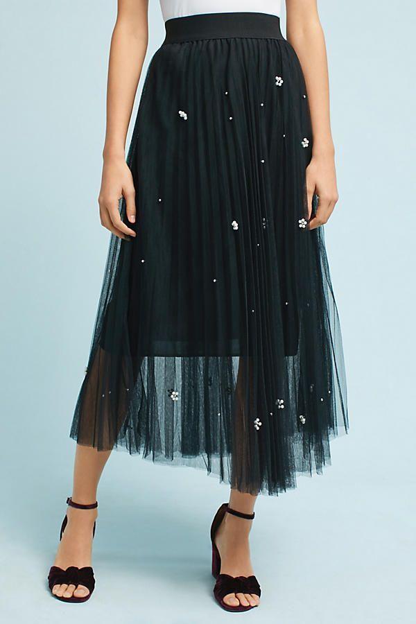 Slide View: 3: Pearl Tulle Skirt