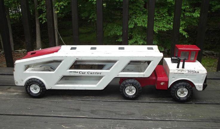 Toy Car Holder Truck : Vintage mighty tonka car carrier transporter hauler