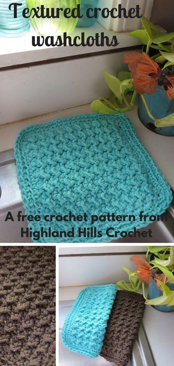 Free crochet washcloth pattern - | Pinterest | Tejido, Gaby y Mantel