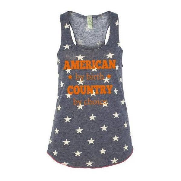 American by Birth Country by Choice Tank Top 4th of July Shirt July... ($25) ❤ liked on Polyvore featuring tops, black, tanks, women's clothing, america tank top, red racerback tank top, racerback tank, racer back tank and americana shirts