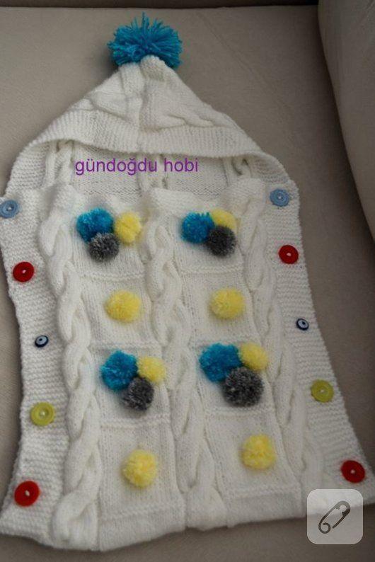 Örgü kundak battaniyesi yapımı