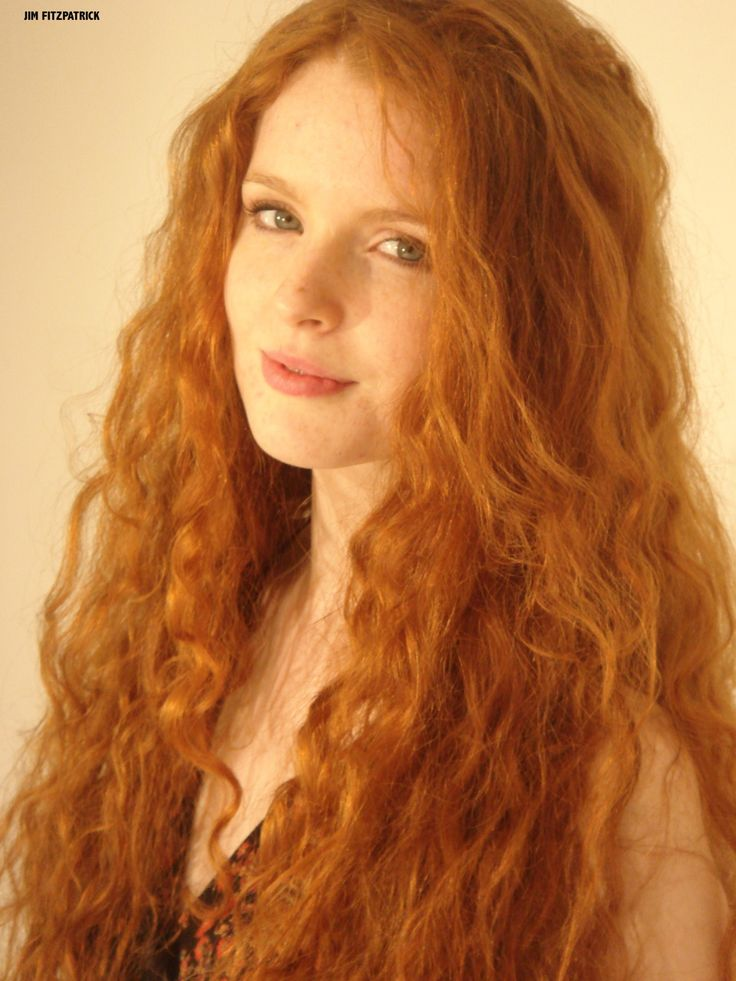 Red Heade Irish Woman  Irish Girl With Long Red Hair -9526