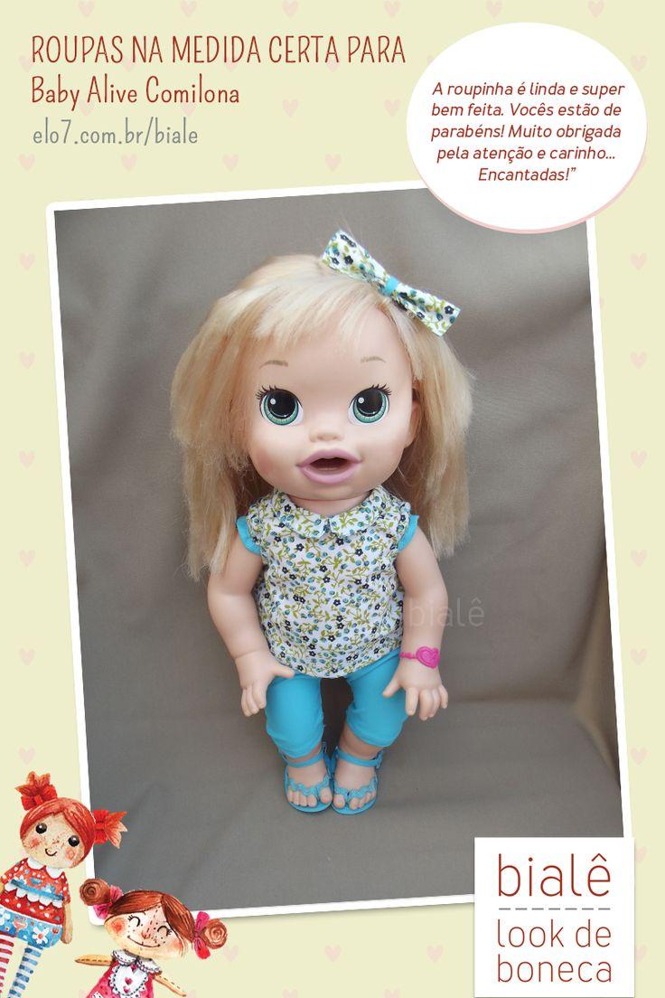 Roupas para Baby Alive: na medida certa para a boneca Comilona. Confira!