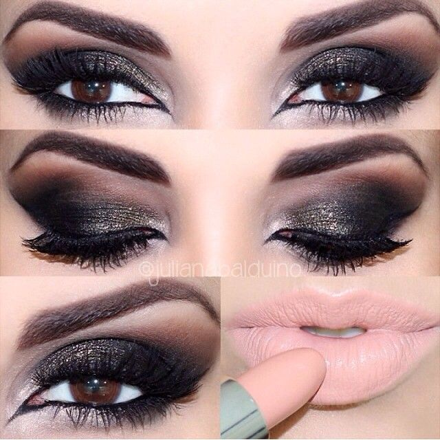 ❤❤❤ This is THE best smokey eye I've ever laid eyes on. Wish I knew what make up was used here!