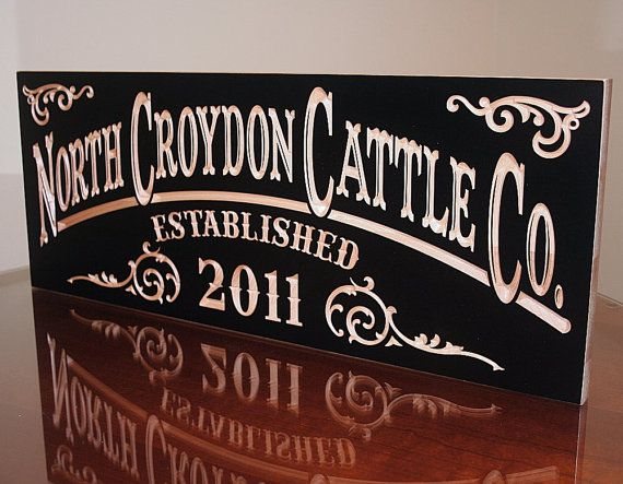 Engraved Man Cave Signs : Ranch sign farm custom engraved man cave