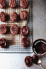Chocolate Friands with Mocha Fudge Frosting