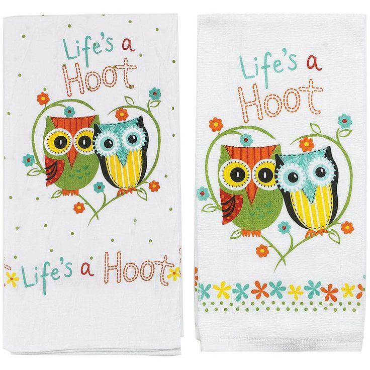 Kay Dee Designs Lifes A Hoot Terry Towel and Flour Sack - KAYD45500